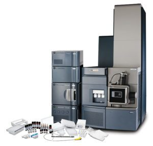 The Biopharmaceutical Platform Solution with UNIFI Software, featuring an ACQUITY UPLC H-Class Bio and a Xevo G2-XS QTof mass spectrometer.