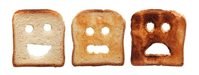 To avoid acrylamides, don't burn your toast