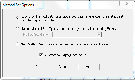 Empower Tip: Automatically apply method set | Figure 5