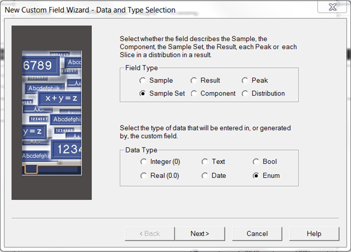Empower Tips: Custom Field Wizard/Select Sample Set for Field Type and Enumerated for Data Type | Figure 1